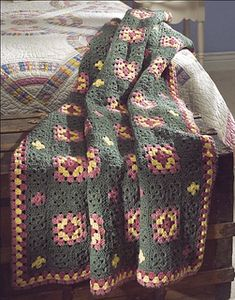 Use free crochet afghan patterns to help you create handmade heirlooms that will keep you warm this winter. Our patterns range from beginner to advanced levels. Crochet Throw Pattern, Crochet Motif, Crochet Stitches, Free Crochet, Square Blanket, Afghan Blanket, Afghan Rugs, Afghan Crochet Patterns, Crochet Afghans