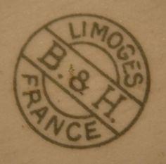 Pottery and Porcelain Marks: B & H Limoges
