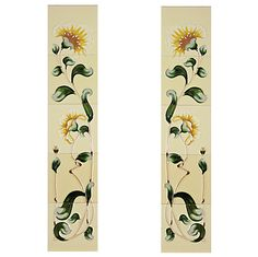 The Cast-tec Luscia tile set is comprised of two panels for either side of the fireplace. Each panel is made up of five tiles in a floral pattern rising from the stem to the flower. The Luscia is available in a honey and yellow finish. Fireplace Accessories, Diy Dollhouse, Fireplaces, Art Decor, Art Nouveau, Tiles, House Ideas, Honey, It Cast