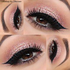 Nails pink glitter tips make up Ideas Glitter Makeup, Glitter Eyeshadow, Prom Makeup, Wedding Makeup, Pink Glitter, Sparkly Makeup, Glitter Toms, Glitter Balloons, Glitter Vinyl