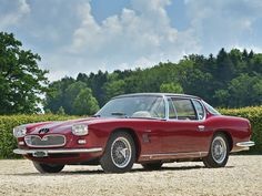 Maserati 5000 GT 1963 Maintenance/restoration of old/vintage vehicles: the material for new cogs/casters/gears/pads could be cast polyamide which I (Cast polyamide) can produce. My contact: tatjana.alic@windowslive.com