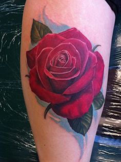 Red Rose Tattoo by Hades at TattooHades | Tattoo designs