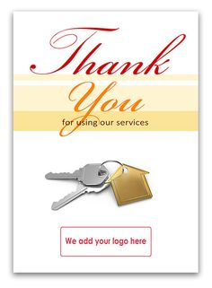 'Thank You' card for Estate Agents to send to their clients, whether they're vendors, purchasers, tenants or landlords. See the full range here  http://www.corporategreetingsuk.com/product-category/estate-agents/client-thank-you-estate-agents/