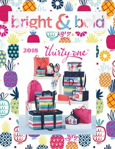 #31 Thirty-One Gifts bring great new items and prints for 2018. In the Bright & Bold collection 31 adds Patio Pop, Bloomin' Bouquet, Lotta Colada, Calypso Coral Pebble to existing Pink Crosshatch. These new prints mix well with Skies For You Pebble, Geo Pop, Geo Stripe, Sparkling Squares, Dragonfly Daze, Fab Flourish, Navy Starfish Splash, Dotty Hexagon, Midnight Navy Pebble, Dash of Plaid Pebble and others.