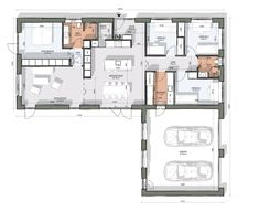 Garage House Plans, House Blueprints, Sweet Home, Floor Plans, Flooring, How To Plan, Projects, Dream Homes, Inspiration