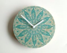 Items similar to Objectify Tapa Wall Clock on Etsy Dining Room Clock, Kitchen Wall Clocks, Pine Plywood, Wall Clock Design, Tea Pot Set, Color Schemes, Etsy, Handmade Gifts, Unique