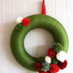 Here are some exciting DIY Home Decor Arts And Craft Ideas for the kids both boys and girls. Christmas Pom Pom Crafts, Spring Crafts, Diy Christmas Gifts, Christmas Projects, Handmade Christmas, Holiday Crafts, Christmas Ornaments, Pom Pom Wreath, Diy Wreath