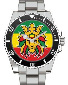 Rastafari Lion Reggae - KIESENBERG ® Uhr 2522 von UHR63 auf Etsy