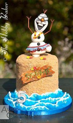 "Olaf "" In Summer"" Cake"