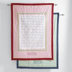 100 good wishes baby quilt  $99.95