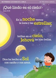 MIS PRIMERAS LECCIONES DE LA BIBLIA | ¡Qué lindo es el cielo! | Léale este poema a su pequeño y disfruten juntos viendo los dibujos.