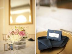 Navy and Pink Reception Details, photo by Stephanieasmith.com