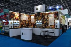 Modular and flexible Exhibition stand design for Global Grains at IFE 2015 by Quadrant2Design