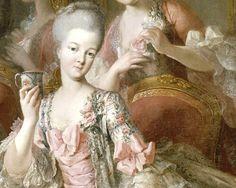 The Princesse de Lamballe; detail from a family portrait by Jean-Baptiste Charpentier le Vieux, 1768.