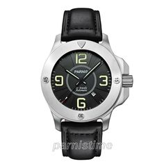 47mm Parnis Luminous Marker Miyota Automatic Men's Military Watch Sapphire Glass #parnis #Casual