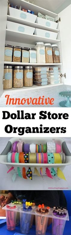 Innovative Dollar Store Organizers. organization, organizing hacks, stay organized, home, home decor, cleaning, cleaning tips, DIY organization