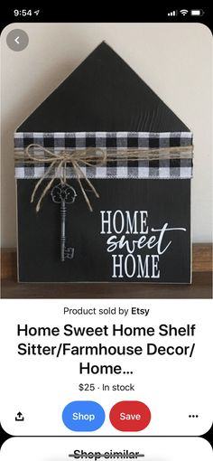 House In The Woods, Wood Crafts, Farmhouse Decor, Sweet Home, Signs, How To Make, Etsy, Shopping, Things To Sell