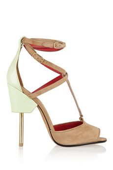 Givenchy Marzia suede and leather sandals | NET-A-PORTER