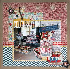 The pattern combinations make me happy! Envisages: Ramblings and a couple of layouts