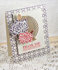 Ever So Kind Card by Dawn McVey for Papertrey Ink (November 2013)
