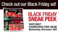 SHOPKO $$ Black Friday Ad 2014!