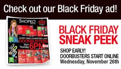 SHOPKO $$ Black Friday Ad 2014!