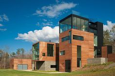 Modern residence designed by Robert M. Gurney Architect located in Rappahannock County, Virginia, United States..