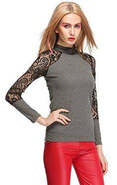 MEXI Women's Chic Lace Crew Neck Blouse Shirt Tops Slim XL Gray Mexi http://www.amazon.com/dp/B00TC0SG8C/ref=cm_sw_r_pi_dp_kk-0vb1GPK84V