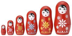 Cutie Matryoshkas and thousands more of the very best toys at Fat Brain Toys. Classic, Matryoshka nesting dolls - a new twist on timeless toy! A modern version painted with cute little girl expressions. Matryoshka Doll, Creative Play, Retro Toys, Old Toys, Kids Playing, Babyshower, Amazon, Girly Stuff, Kid Stuff