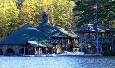 Adirondack boathouse