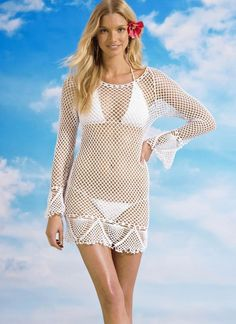 Angelina Crochet Beach Cover-Up<br/><div class='zoom-vendor-name'>By <a href=http://www.ustrendy.com/KatieWilson>Katie Wilson</a></div>
