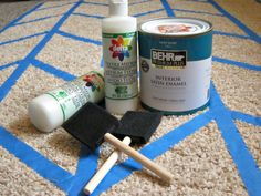 Yay! Apartmenting : Fluffy Painted Rug Tutorial