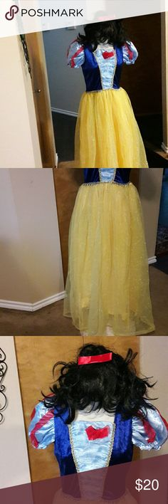 Snow White Costume Includes the wig size Small New without tags! Wig can be flat ironed to look Perfect! Never worn size small good quality! No rips no stains non smoking home Other