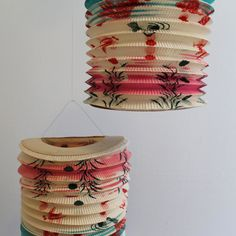Pair of Large Vintage Japanese Paper Lanterns by ameliajanevintage, $34.99