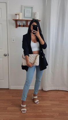 10 Chic Blazer Outfit Ideas | Cute Black Blazer, Pink Blazer and White Blazer Looks H&M, Zara OOTD