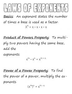 Laws of Exponents | Using the Laws of Exponents | Projects to Try ...