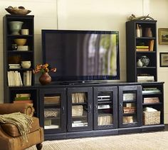 1000 images about media media centers on pinterest tv storage printers and large tv stands. Black Bedroom Furniture Sets. Home Design Ideas