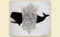 whale & innards by Evan B Harris