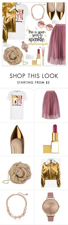 """""""This Is Your Year To Sparkle"""" by queenvirgo ❤ liked on Polyvore featuring River Island, L.K.Bennett, Tom Ford, Judith Leiber, Haider Ackermann, Betsey Johnson, Olivia Burton and Dolce&Gabbana"""