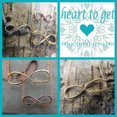 New infinity collection by Heart to Get! #hearttoget #infinity #love #jewelry