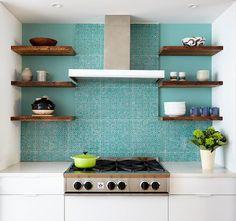 Turquoise | Kitchen splashback, Windsor Terrace, Brooklyn, New York City