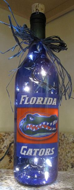 Lighted Bottle Florida Gators by MikesLightedBottles on Etsy, $25.00