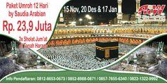 Alhijaz Indowisata Travel Umroh by Pesawat Saudia Paket Umroh 12 hari hanya Rp 23,9 juta