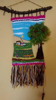Tapestry Loom, Macrame Owl, Crochet Mouse, Weaving Textiles, Tear, Loom Weaving, Art Blog, Textile Art, Wind Chimes