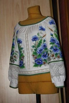 Folk Fashion, Cross Stitch Patterns, Long Sleeve, Sleeves, Tops, Women, Leather, Embroidered Blouse, Stud Earrings