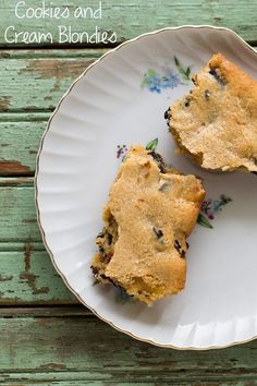 http://www.homedesigndiy.com/ Cookies and Cream Blondies  ✿  ✿ ☻. ✿
