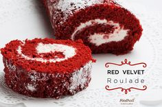 It couldn't get any better with red velvet  made extra festive in a classic roulade. Come get the best of both worlds at Foodhall!