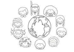 Mundo de culturas - Dibujalia - Dibujos para colorear - Paz y No ...