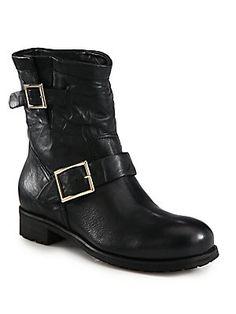 Jimmy Choo Youth Biker Boots!!! So cute!!! Please, please get in my closet!!!