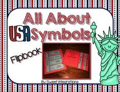 FREE All About U.S. Symbols Flipbook from Sweet Integrations on TeachersNotebook.com -  (7 pages)  - Students can learn about U.S. Symbols as they create their own flip book. I've provided templates and directions in making their books. And, I added an extra bonus of a U.S. Symbol Flipflap template.